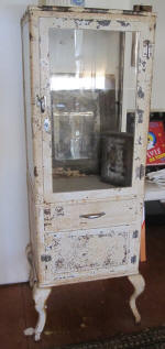 Antique Medical Cabinet, Turn Of The Century. Missing Glass On One Side.  This Is A Very Rare Find. Price $1400